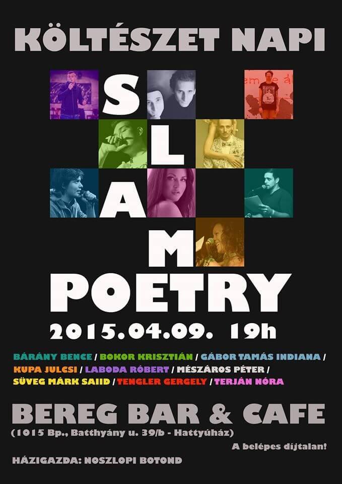 Költészet napi Slam Poetry a Bereg Bárban