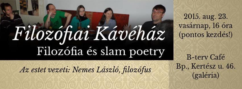 Filozófiai Kávéház a Slam Poetryről