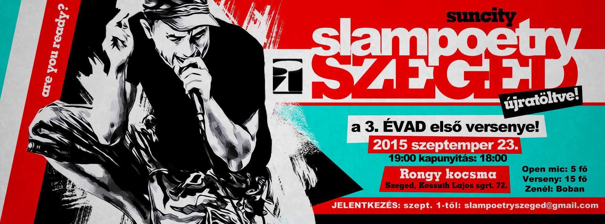 """SLAM POETRY Szeged @Rongy """"újratöltve"""""""