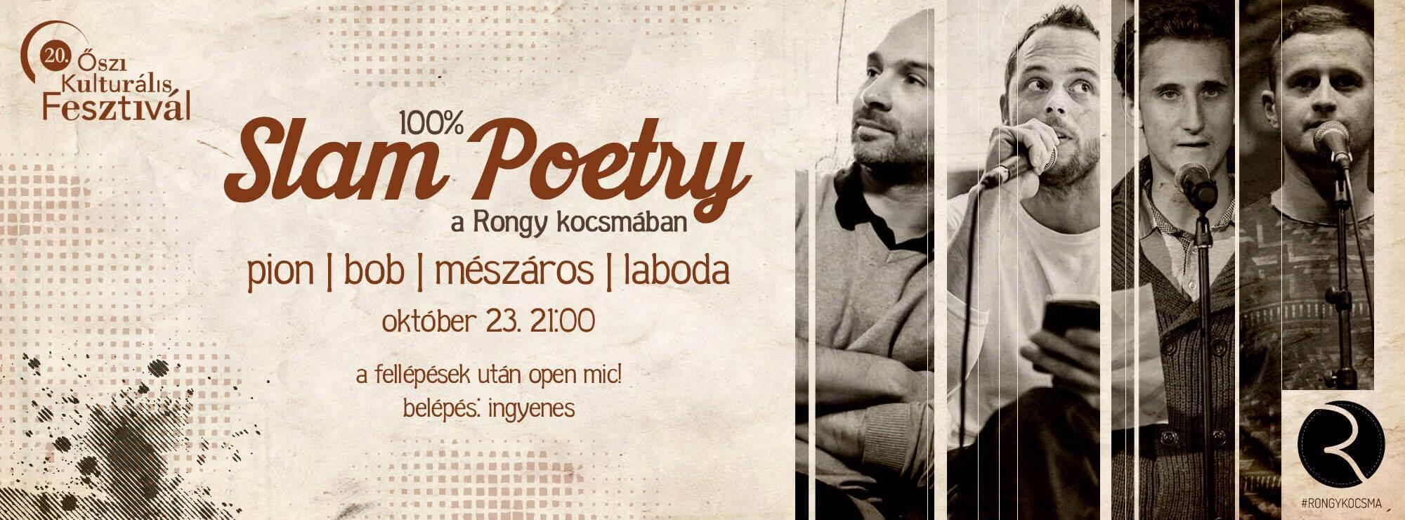Slam Poetry Szeged @RONGY w/PION BOB MÉSZÁROS LABODA