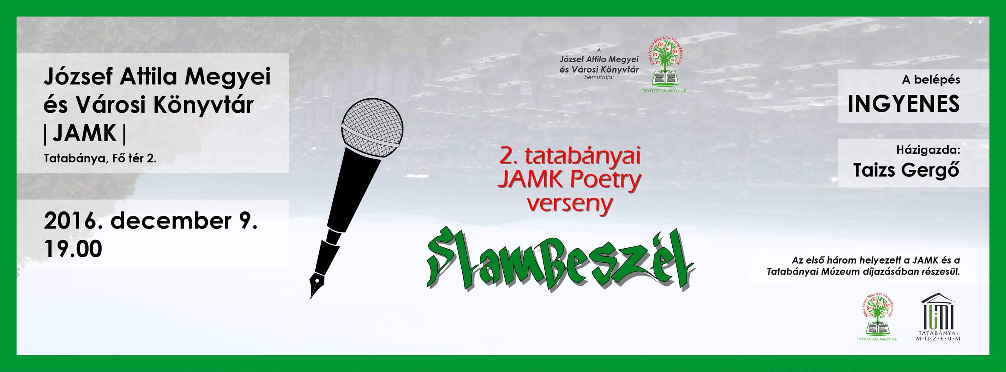 SlamBeszél – 2. JAMK Poetry