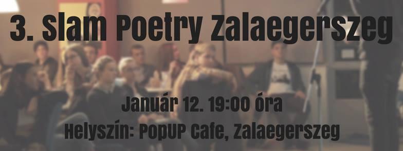 3. Slam Poetry Klub Zalaegerszeg