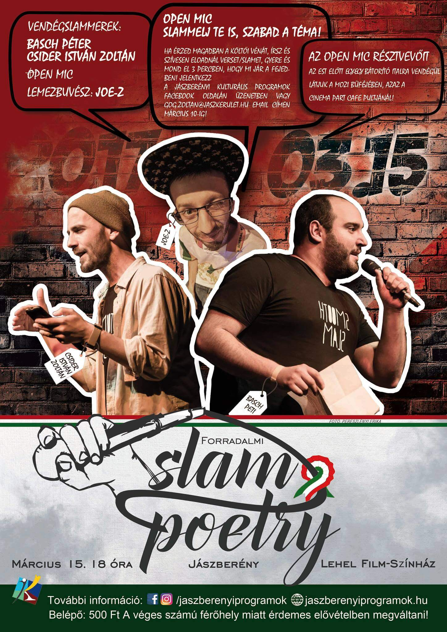 Forradalmi SLAM Poetry EST Jászberényben