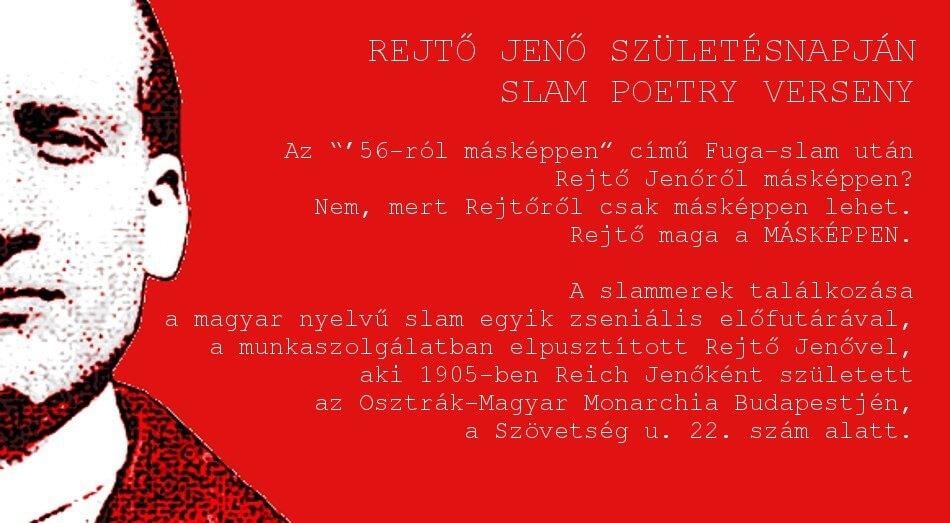 Rejtő Jenő születésnapján / Slam poetry verseny