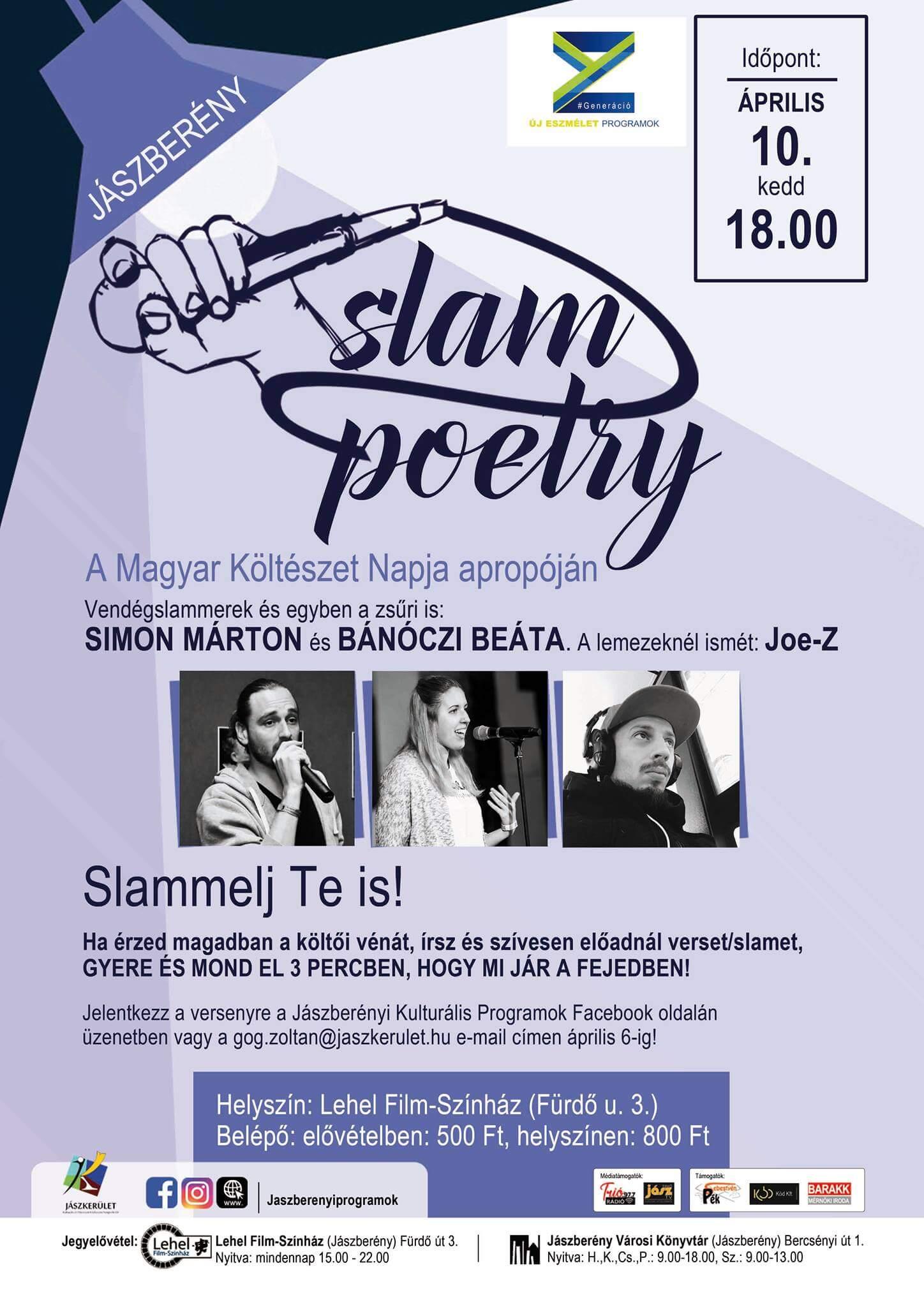 Slam poetry est Jászberényben
