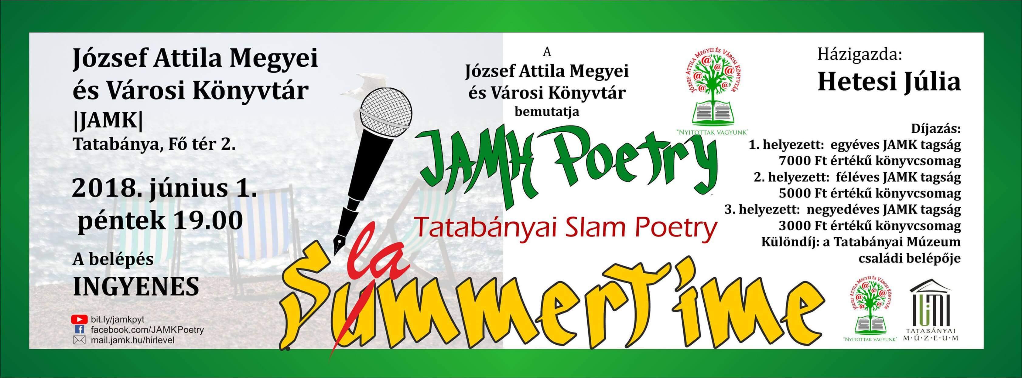 SummerSlammerTime II. – X. JAMK Poetry – Tatabányai Slam Poetry